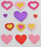 Stickers in the shape of heart Royalty Free Stock Photography