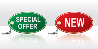 Stickers -  special offer,new Royalty Free Stock Photo