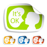 Stickers with speech bubbles Stock Image