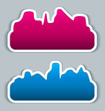 Stickers speech bubbles - cityscape Stock Photos
