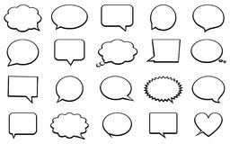 Stickers of speech bubbles vector set Stock Photography
