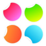 Stickers Stars Colours Royalty Free Stock Photography