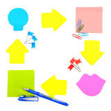 Stickers and stationery Royalty Free Stock Photography
