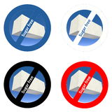 Stickers for sugar free products Royalty Free Stock Photo
