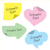 Stickers for text, design. Note. Stock Photos