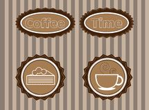 Stickers to advertise coffee Stock Photo