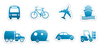 Stickers transportation Royalty Free Stock Photos