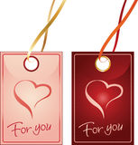 Stickers for Valentine's Day Royalty Free Stock Photography