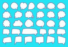 Stickers van geplaatste toespraakbellen Vector illustratie Royalty-vrije Stock Foto