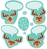 Stickers van leuke gelukkige deers royalty-vrije illustratie