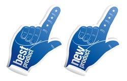 Stickers voor beste productverkoop Royalty-vrije Stock Foto's