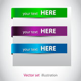 Stickers voor de () Web-pagina Royalty-vrije Stock Afbeeldingen
