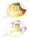 Stickers voor kwaliteitsproducten Stock Fotografie