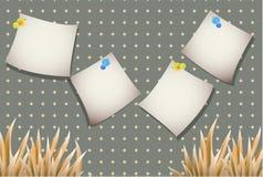Stickers voor tekst met een gele installatie op een eenvoudige achtergrond Stock Foto