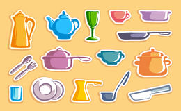 Stickers with ware images Stock Images