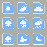 Stickers Weather. Blue Stickers Weather  illustration Stock Image
