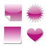 Stickers web. Various Pink stickers for web Stock Image