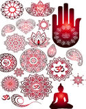 Stickersboeddhisme, Boedha, meditatie Royalty-vrije Stock Foto