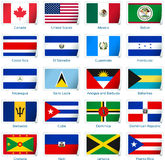 Stickervlaggen Amerika Royalty-vrije Stock Foto's