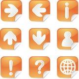 Stickes cuadrados útiles Fotos de archivo libres de regalías