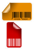 Stickesr with bar codes Royalty Free Stock Photo