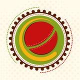 Sticket o etiqueta para el concepto de los deportes del grillo Imágenes de archivo libres de regalías