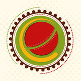 Sticket ou label pour le concept de sports de cricket Images libres de droits
