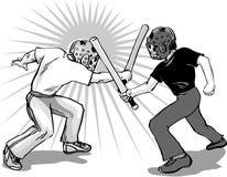 Stickfight complété photo libre de droits