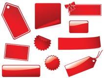 Stickies e contrassegni in bianco Fotografie Stock