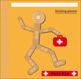 Sticking plaster Figure bags Royalty Free Stock Photos