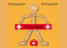Sticking plaster Figure Banner Stock Photos