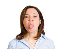 Sticking the tongue out Stock Image