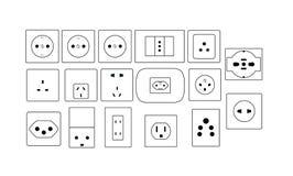 stickkontakter Arkivbild