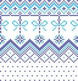 Stickmönster för vinterferie med julgranar Jul som sticker tröjadesign Ull stucken textur vektor illustrationer