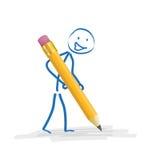 Stickman blyertspenna Arkivfoton