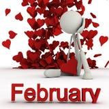 Stickman Februar Lizenzfreie Abbildung