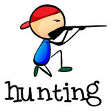 A stickman hunting Royalty Free Stock Images