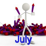 Stickman July Stock Photos