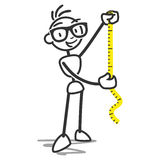 Stickman Measuring Tape Stock Images