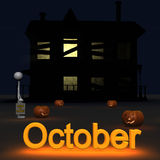 Stickman Oktober Stock Afbeelding