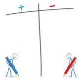 Stickman Pro Kontra ilustracja wektor