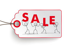 Stickman Sale Price Sticker Royalty Free Stock Photography
