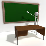 Stickman - school Stock Photography