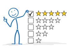 Stickman 5 Stars Rating Stock Photo