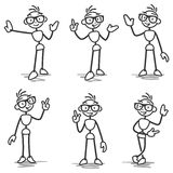 Stickman Stick Figure Pointing Showing Presenting Royalty Free Stock Images