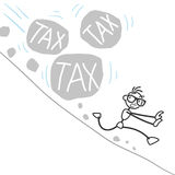 Stickman stick figure tax burden Stock Images