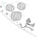 Stickman stick figure tax burden Stock Images