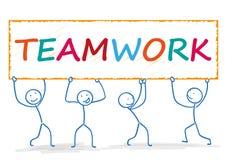 Stickman Teamwork Royalty Free Stock Image
