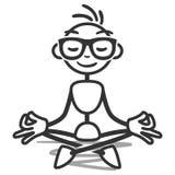 Stickman yoga lotus meditating. Vector stick figure illustration: Meditating stickman doing yoga in lotus position Royalty Free Stock Photography