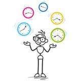 Stickman-Zeitmanagement-Produktivitätszeitplan Lizenzfreie Stockfotos